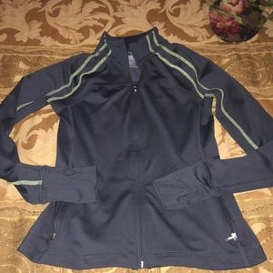 Charcoal grey fitted work out jacket